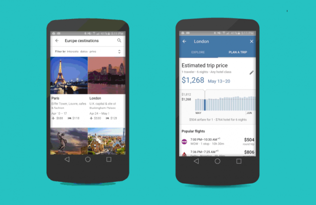 Google Destinations : le comparateur de voyages intuitif, smart